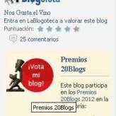 Quedan pocos días para votar a Nos Gusta el Vino en los Premios 20Blogs