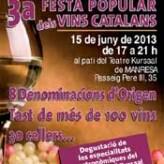 3ª Fiesta Popular de los Vinos Catalanes (Manresa, 15 de junio)