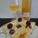Príncipe de Viana Vendimia Tardía de Chardonnay 2012 con Tarta de Crema y Frutas
