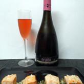 Argila Rosé Brut Nature 2012 con Tataki de Salmón al Pesto