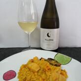 Yllera Sauvignon Blanc Vendimia Nocturna 2014 con Paella de Pollo y Alcachofas