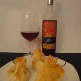 Mas Blanch i Jové: Saó Rosat 2012 con Saquitos de Jamón Dulce y Roquefort