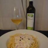 Celler Can Sais: Can Sais Mestral 2012 con Espaguetis a la Carbonara