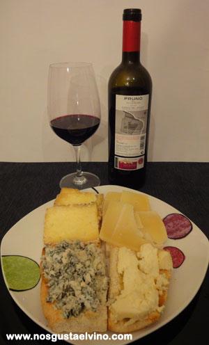 pruno 2012 con quesos asturianos