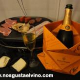 Champagne Veuve Clicquot Brut Yellow Label con Raclette