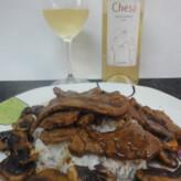 Chesa Gewürztraminer 2013 con Ternera con Salsa Sichuan