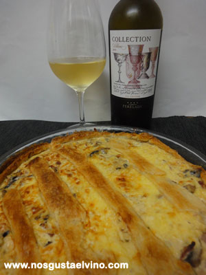 Perelada Collection Blanc 2013 quiche lorraine