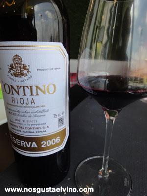 Restaurant Hydrogen Hotel Barcelo Sants Contino Reserva 2006 (Vino tinto reserva - D.O.Ca. Rioja)
