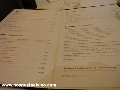 Restaurant cullera de boix boqueria carta