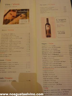 Restaurant cullera de boix boqueria carta vinos