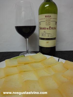 señorio de p.peciña vendimia seleccionada 2006 con queso de oveja merina de bendita extremadura