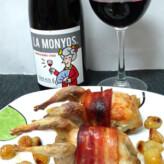 La Monyos 2014 con Codornices al Horno en Salsa de Uvas