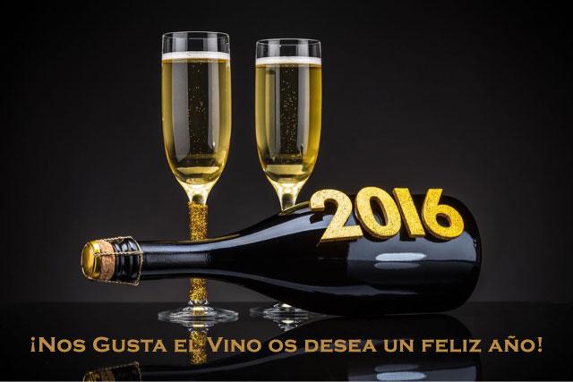 feliz año 2016 nos gusta el vino