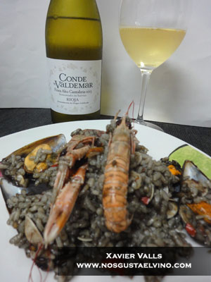 conde de valdemar finca alto cantabria 2013 con arroz negro