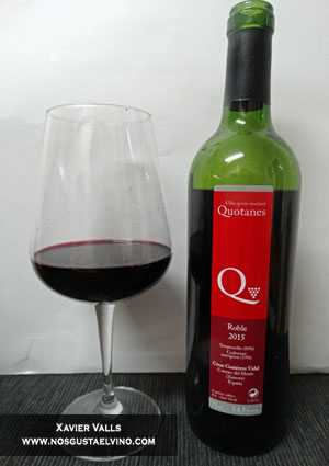 quotanes roble 2015 vino de autor cesar gutierrez vidal