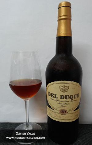 Del Duque Amontillado 30 años de gonzalez byas de la DO Jerez