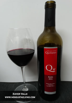 Quotanes roble 2016 vino de autor
