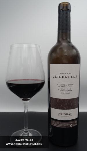 Roureda llicorella vi de vila negre doq priorat cellers unio