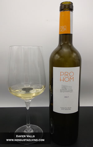 prohom blanc 2017 celler coma d'en bonet do terra alta