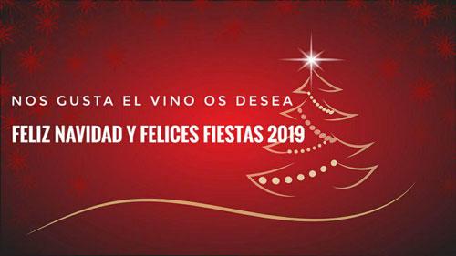 Feliz navidad 2019 nos gusta el vino